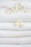 biali ręczniki Obrazy Stock