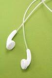 biali słuchawki Obraz Stock