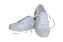 Biali sneakers Obraz Royalty Free