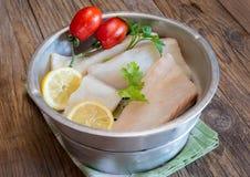 Biali soleni codfish Obraz Royalty Free