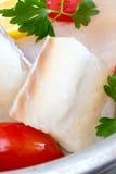 Biali soleni codfish Zdjęcia Stock