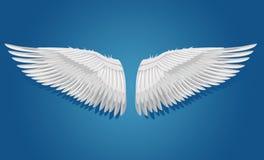 Biali wektorów skrzydła Obrazy Royalty Free