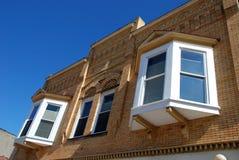 biali wspaniałe okna Fotografia Stock