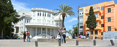 Bialik Square in Tel Aviv - Israel Stock Photo