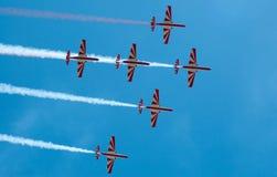 Bialo-Czerwone Iskry - Mazury Airshow - la Polonia Immagine Stock