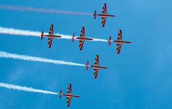 Bialo-Czerwone Iskry - Mazury Airshow - Poland Stock Image