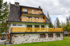 Bialy Domek, made of brick guest house Stock Photo