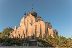 BIALYSTOK波兰Bialystok 10月2014年天主教波兰 库存图片