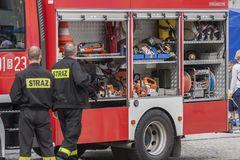 Bialystok, Πολωνία - 12 Ιουλίου 2016: μια πυροσβεστική αυτοκινήτων Στοκ φωτογραφία με δικαίωμα ελεύθερης χρήσης