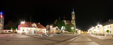 Bialystok la nuit Photo stock