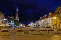 Bialystok by night Royalty Free Stock Images