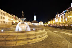 Bialystok at night, Poland Stock Images