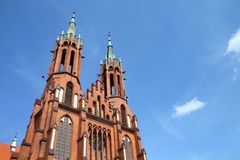 Bialystok, Poland. Old architecture. Podlaskie province. Catholic cathedral of Blessed Virgin Mary Stock Photos