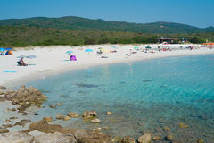 bianca rena пляжа Стоковое фото RF