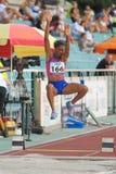Bianca Stuart - long jump Royalty Free Stock Photo