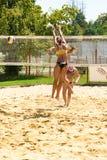 Bianca Zass brakuje blok w wstępnym dopasowaniu Ljubljana plaży salwy wyzwanie fotografia royalty free