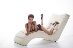 Biancheria d'uso di signora sexy Fotografie Stock
