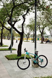 Bianchi mountain bike at Rayal Plaza (Sanam luang) in Bangkok, Thailand. Stock Photography