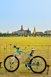 Bianchi mountain bike at Rayal Plaza (Sanam luang) in Bangkok, Thailand. Royalty Free Stock Photo