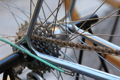 Bianchi old vintage bicycle, detail Royalty Free Stock Photos