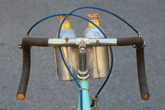Bianchi old vintage bicycle, detail Royalty Free Stock Image