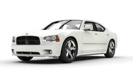 Bianco automobilistico americano Fotografie Stock