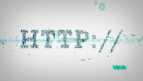 Bianco binario del HTTP di parole chiavi illustrazione di stock