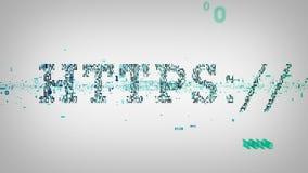Bianco binario di parole chiavi HTTPS illustrazione vettoriale