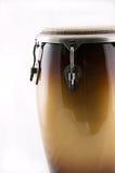 Bianco Bk del tamburo del Conga del Brown Immagini Stock