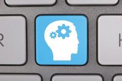 Bianco blu delle soluzioni creative Immagine Stock