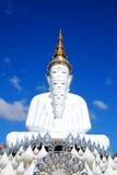 5 bianco Buddha sulla montagna Fotografie Stock Libere da Diritti