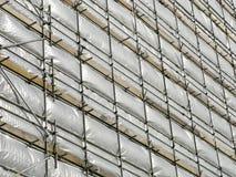 bianco coperto di costruzione della tela incatramata Fotografia Stock Libera da Diritti