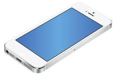 Bianco 3d di Iphone 5 Fotografie Stock