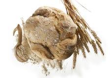 Bianco de fondo de Pagnotta di pane su Image stock