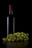 Bianco de vin dans le bottiglia Photos stock