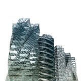 Bianco dei grattacieli della città isolato Fotografia Stock Libera da Diritti