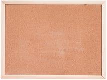 Bianco del bordo del sughero isolato immagine stock libera da diritti
