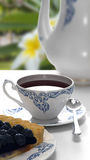 Bianco del caffè della tazza Fotografie Stock Libere da Diritti