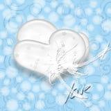 Bianco del cuore illustrazione di stock