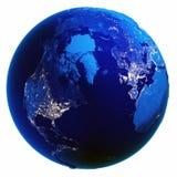 Bianco del globo della terra isolato Fotografia Stock Libera da Diritti