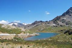 Bianco del lago del gavia de Passo Fotos de archivo
