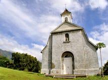 bianco del Maui della chiesa fotografia stock libera da diritti