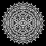 Bianco del modello della mandala Immagine Stock