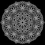 Bianco del modello della mandala Fotografia Stock
