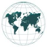 Bianco del petrolio di globus della mappa di mondo Fotografia Stock