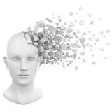 Bianco del pezzo della testa umana Fotografia Stock