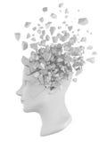 Bianco del pezzo della testa umana Fotografia Stock Libera da Diritti
