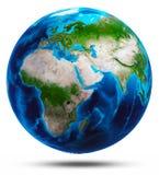 Bianco del pianeta Terra isolato Fotografie Stock Libere da Diritti