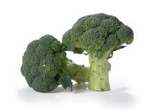 Bianco del sfondo del su del verdi del bróculi Foto de archivo libre de regalías