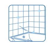 Bianco dell'icona della stanza da bagno Fotografie Stock Libere da Diritti